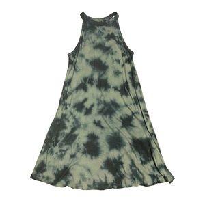 Arizona Jean Co Olive Green Tie Dye Boho Dress